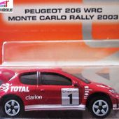 PEUGEOT 206 WRC MAJORETTE RACING 1/57 RALLYE TEAM CLARION - car-collector.net