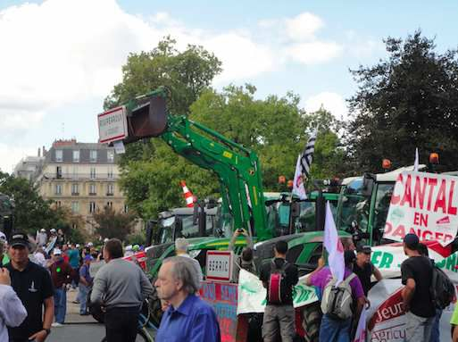 """French farmers """"tractors Protest""""/ Click the image for a video link"""