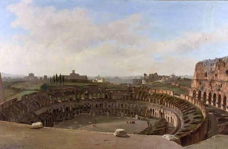 The Colosseum as seen from above - Ippolito Caffi...