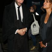 Halle Berry Chats with Keanu Reeves on set of 'John Wick 3' during a late night of filming in New York