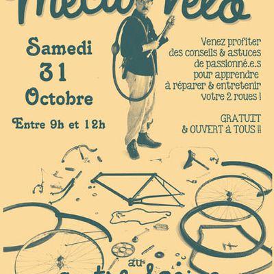 Atelier MECA-VELO : SAM. 31 OCTOBRE 9h>12h au Centre Social