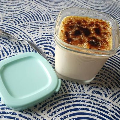 Crèmes façon crème brûlée