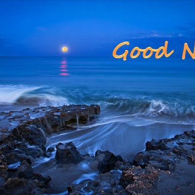 Good Night - Paysage - Nuit - Lune - Picture - Free