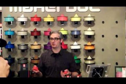 MakerBot Founder Bre Pettis Shows Off 3D Heads Made with 3D Photo Booth at MakerBot Store