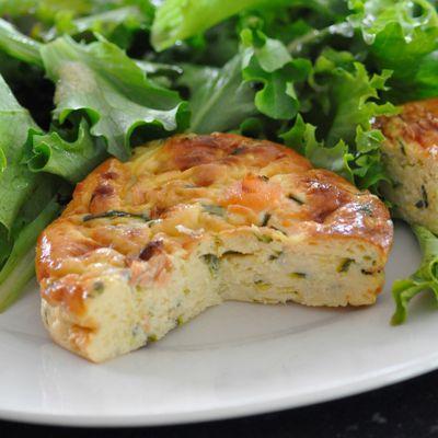 Quiche sans pâte courgettes saumon