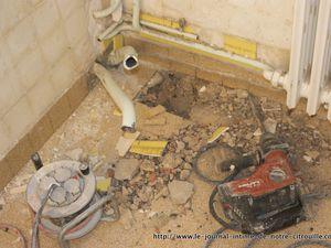 Opération Salle de bain J1 - Destruction