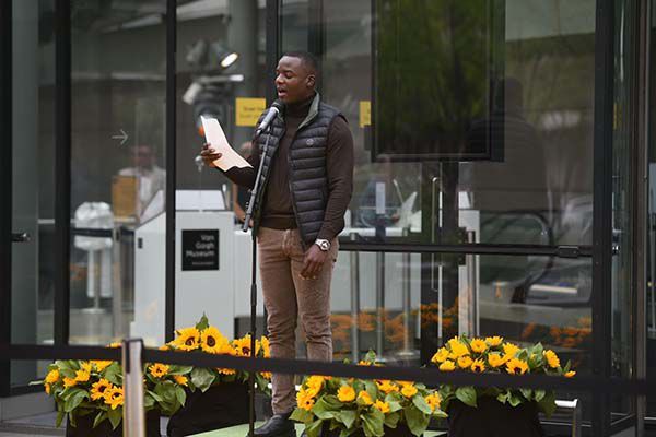 Gershwin Bonevacia, Amsterdam City Poet and contributor to the new exhibition Here to Stay