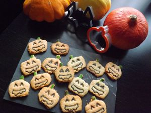 Biscuits Jack-o'-Lantern  pour Halloween