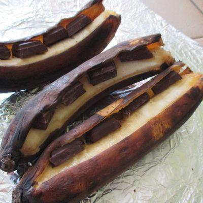 Bananes rôties au chocolat !