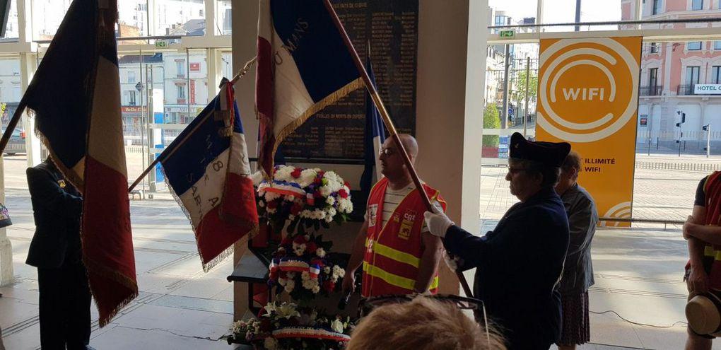 8 Mai 2018 en images - Ag de syndiqués - Commémoration et Ag interservices en gare...