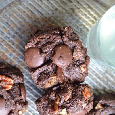 Cookies chocolat noix de Pécan fleur de sel #sans oeuf