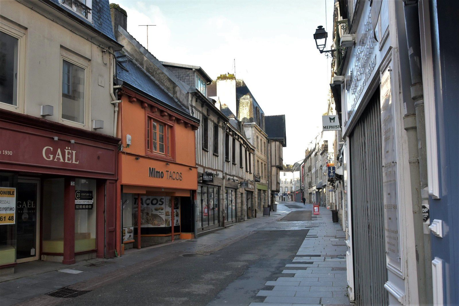 Rue du Chapeau Rouge (Photo archive Penhars Infos)