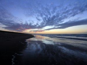 Dunes et plage de Wassenaar juste après le coucher du soleil - 19/12/2013