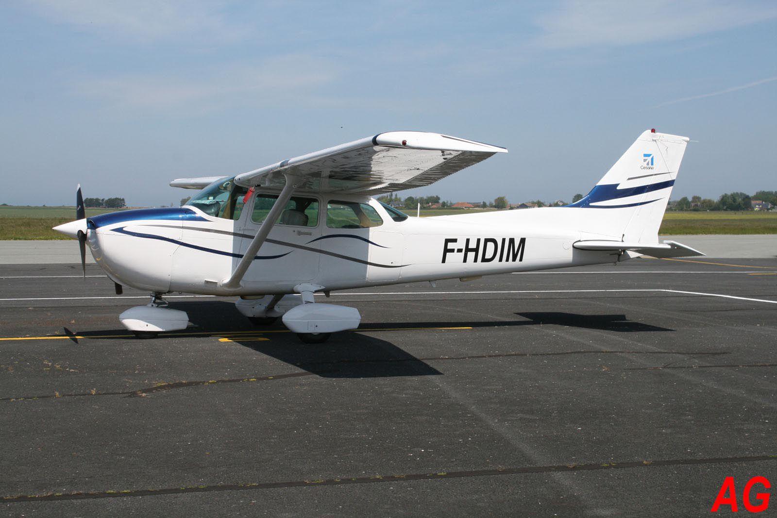 Le Cessna 172  F-HDIM.
