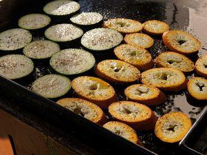 Poulet au romarin et légumes grillés
