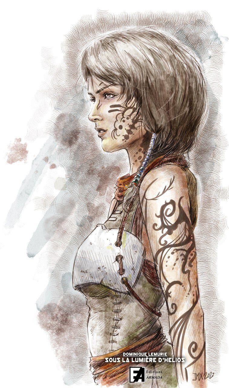 Clara, l'héroïne, superbe dessin par Jean Mathias Xavier