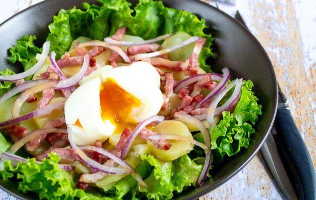 Salade aux pommes de terre et aux lardons