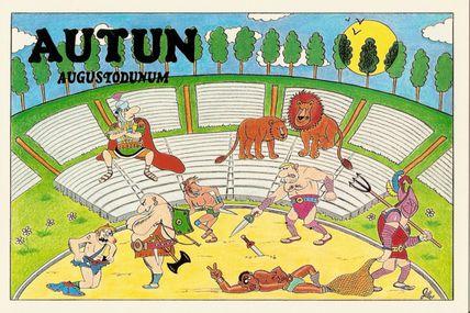 Quartier de la Croix-Verte : le théâtre romain d'Autun.