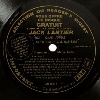 """Mathé Altéry présente """" Jack Lantier - Les plus jolies chansons françaises """""""