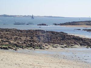 Locqueltas à Larmor : Epave de l'Ecrevisse, 20 août, 17 et 18 septembre 2020 ... Roches à droite de la plage : le 21 août 2020