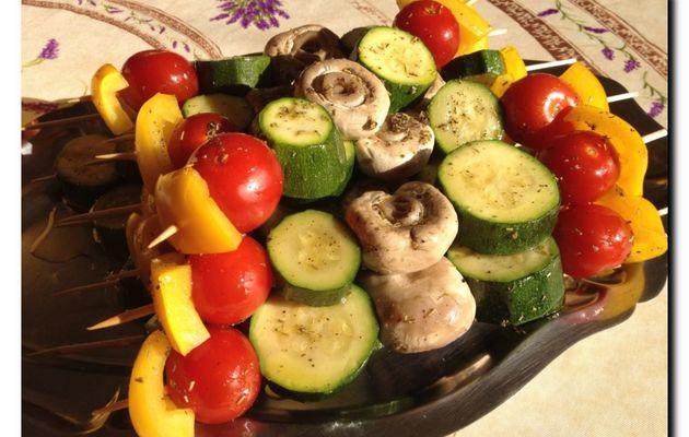 Brochettes de légumes (V)