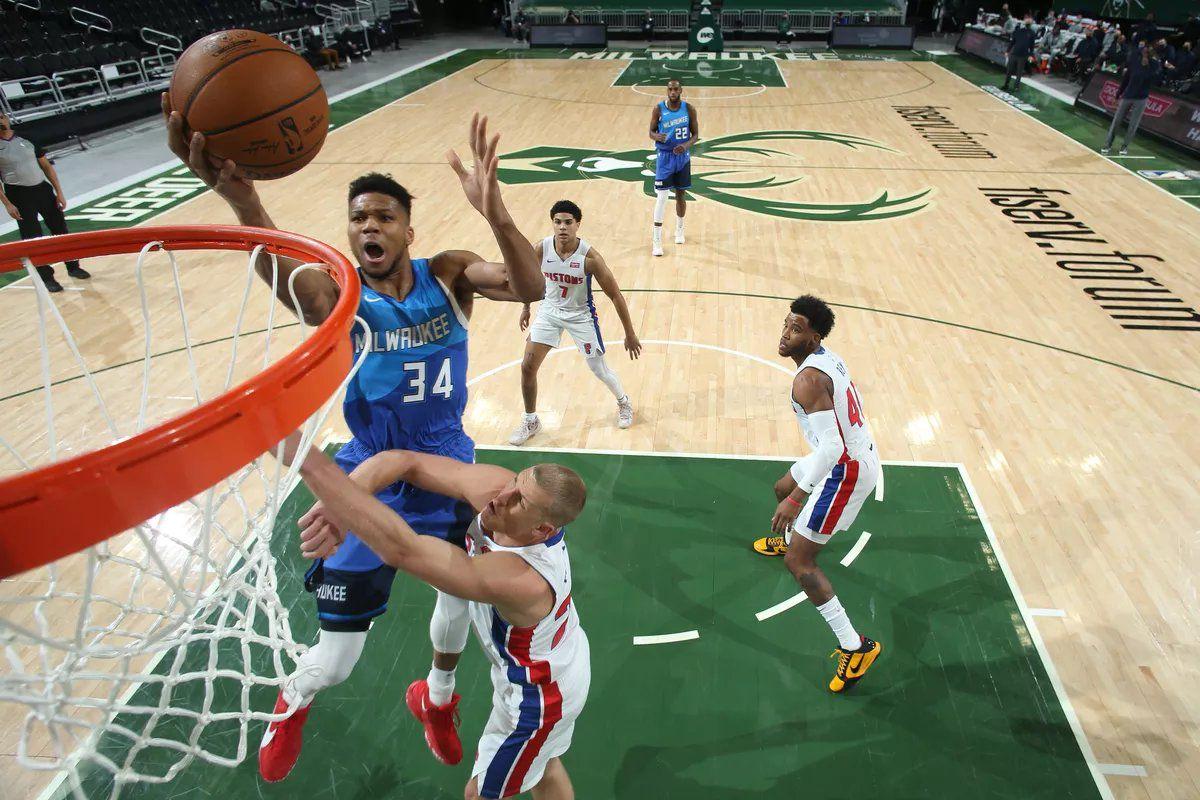 Giannis Antetokounmpo marche sur les Pistons en signant 43 points, 9 rebonds et 4 passes