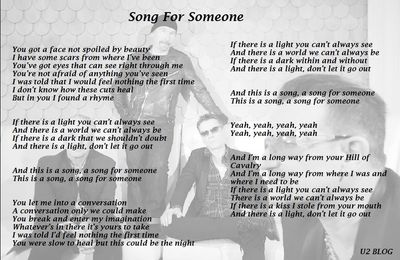 U2 Song For Someone