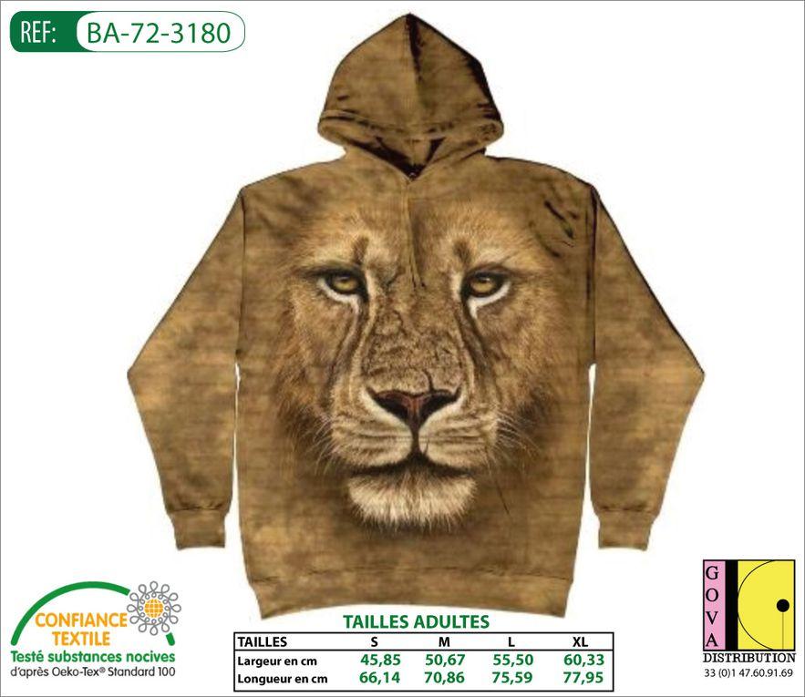 Sweat-shirts à capuches avec personnalisation Animaux.