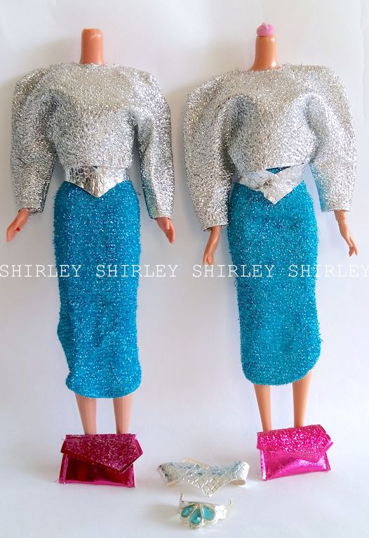 """JEWEL SECRETS"" WHITNEY DOLL CLOTHES 1986 MATTEL #3179"