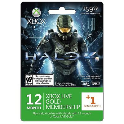 Xbox 360 Live 12+1 month GOLD Subscription WORLDWIDE