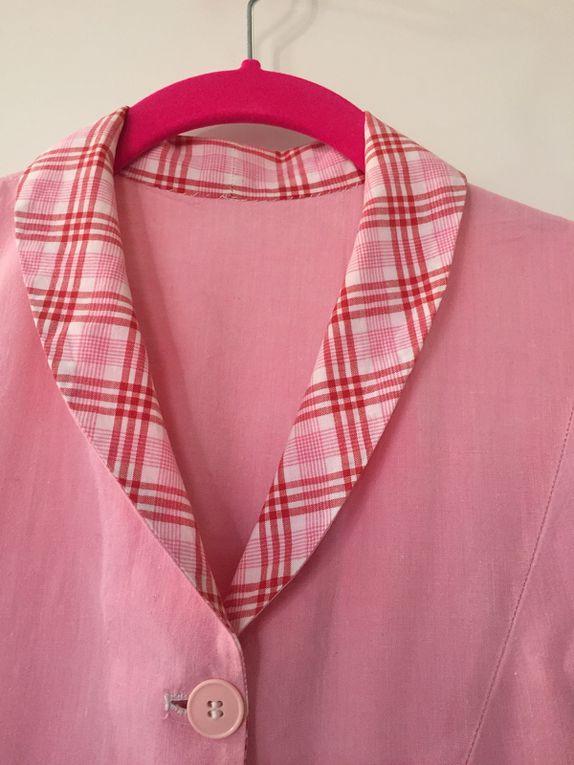 vêtement blouse vintage cousu à la main  sur charlotteblabla blog