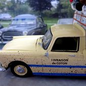 "PEUGEOT 404 PICK-UP TRANSPORT BROUSSE "" LA LIVRAISON DE COTON "" ELIGOR 1/43 - car-collector.net"