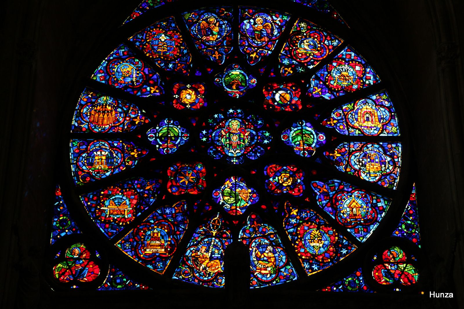 Cathédrale de Reims, rosace occidentale