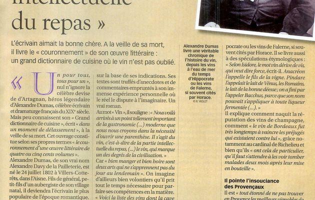 Alexandre Dumas et le vin...