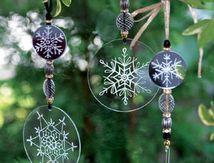 Des décorations de fenêtres pour Noël