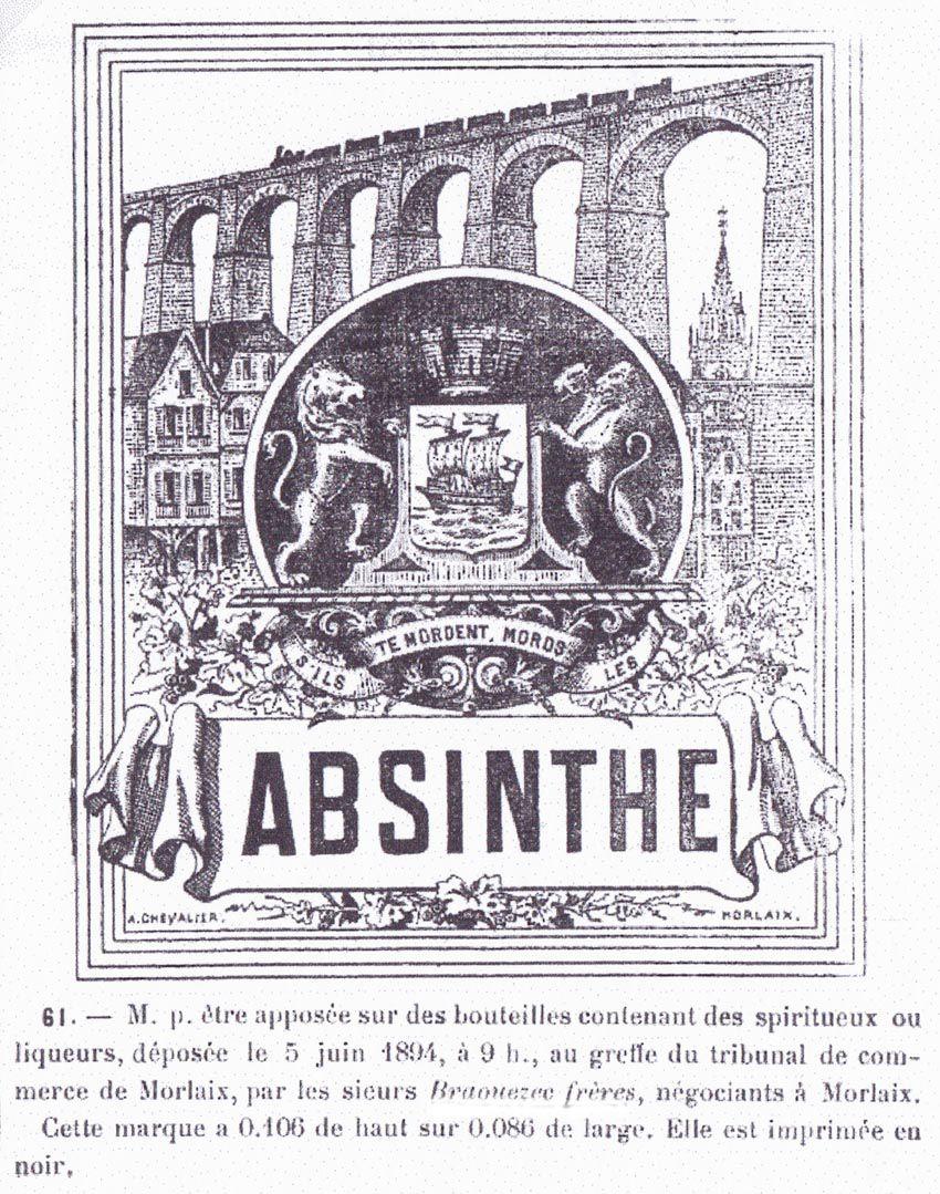 Dépôt de marque déposée au tribunal de commerce de Morlaix par les sieurs Braouezec frères, 1894. Doc. É. Coulaud.