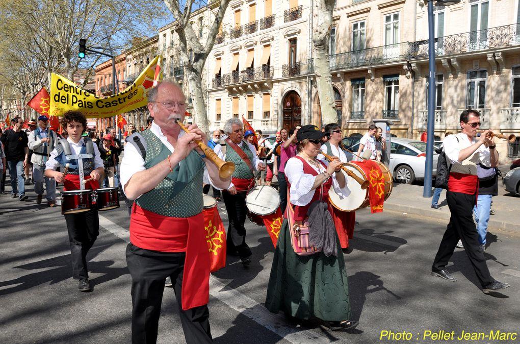Manifestation à Toulouse pour l'Occitan. Photo Pellet Jean-Marc
