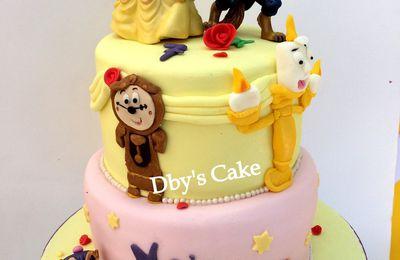 Gâteau la Belle & la Bête