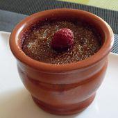 Crème brûlée chocolat framboises - Cuisine gourmande de Carmencita