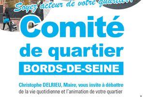 #222 - Comité de Quartier Bords de Seine - Réunion le 2 juillet !