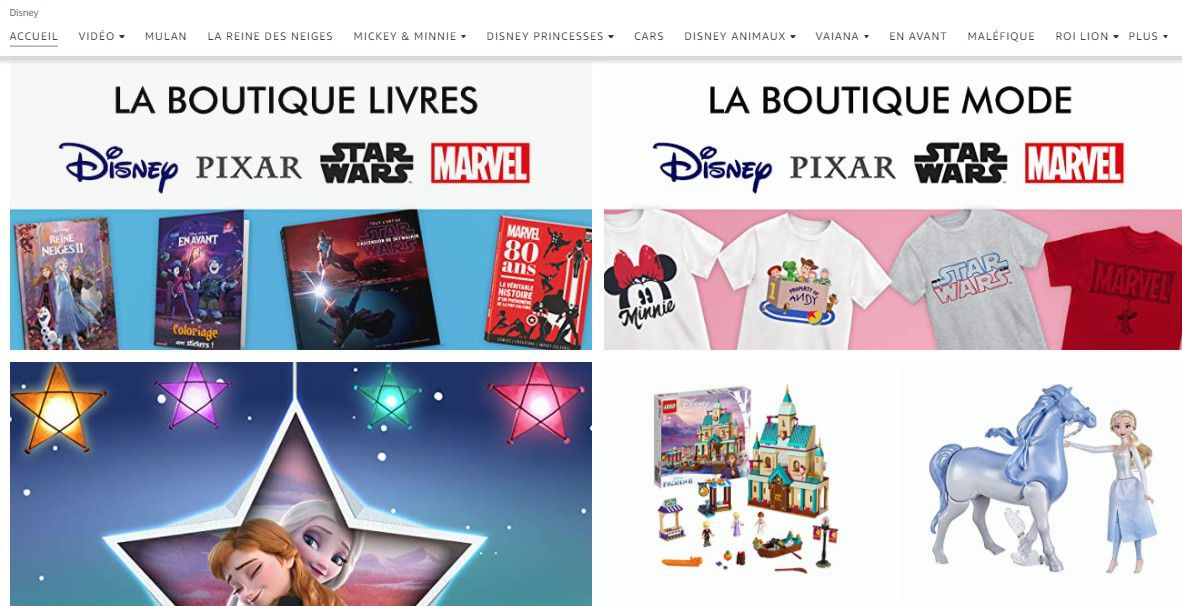 E-commerce : Une ligne exclusive de vêtements Disney avec Amazon Fashion