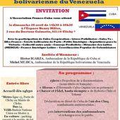Dimanche 26 avril, tous ensemble contre le blocus de Cuba et pour la défense de la révolution bolivarienne