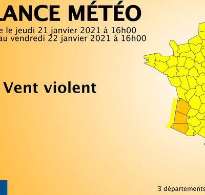 Oloron Haut-Béarn : Alerte Orange Tempête Hortense 22 Janvier 2021