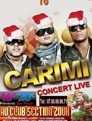 [CONCERT] CARIMI EN CONCERT LE 16 DECEMBRE 2012