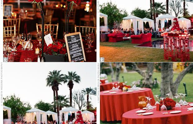Deco salle mariage rouge