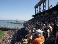 The Giants playing at the AT&T Stadium in San Francisco
