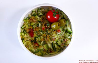 Salade de Courgettes, Citron Confit et Menthe Fraiche!