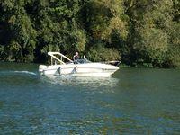 Retour de notre ponton bois au port de Valvins