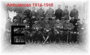 AMBULANCES... 1914-1918 – Lettre E