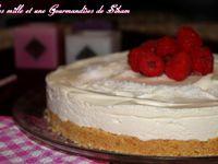 Cheesecake Sans Cuisson Chocolat Blanc et Framboise
